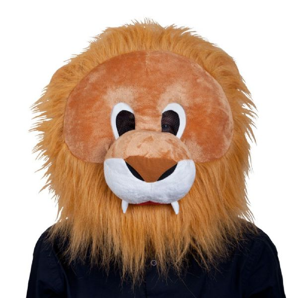 Adults Lion Mascot Head Mask for Jungle Animal Beast Africa India Fancy Dress